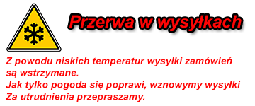 wstrzymanie wysyłek